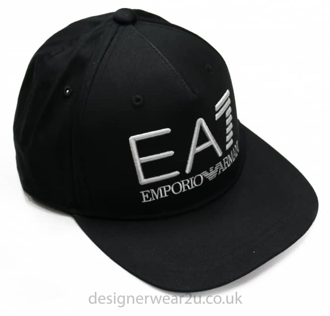 EA7 EA7 Snap Back Baseball Cap in Black