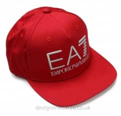 EA7 Snap Back Baseball Cap in Red