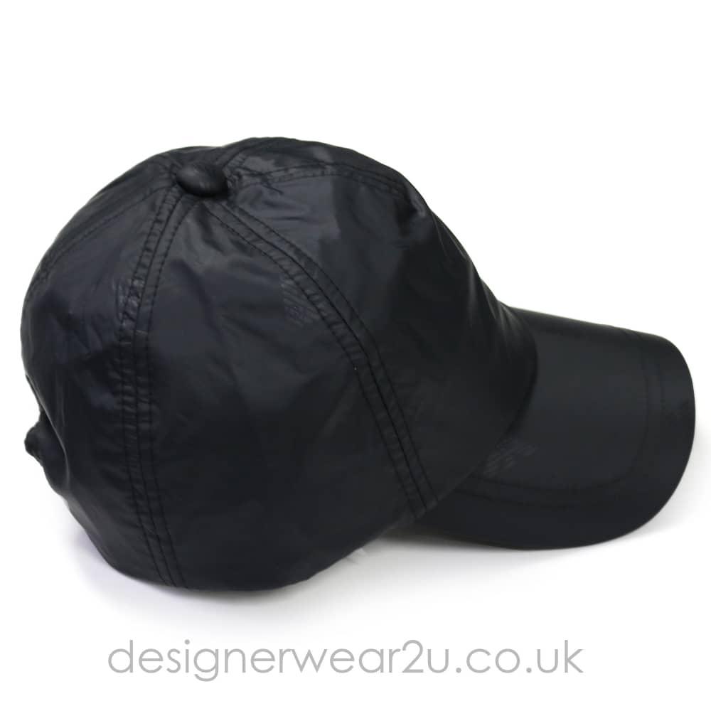 7eb23705 Emporio Armani All Over Logo Cap in Black - Headwear from ...