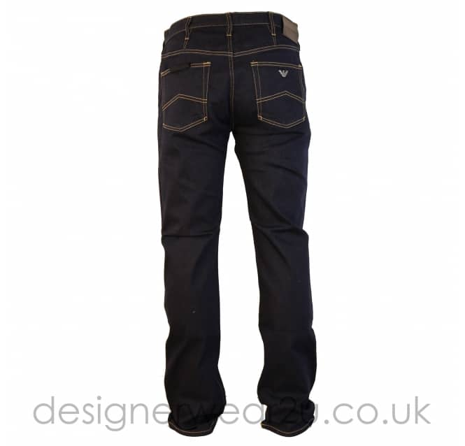 Emporio Armani Emporio Armani Dark Blue Stretch Jeans in J21 Fit