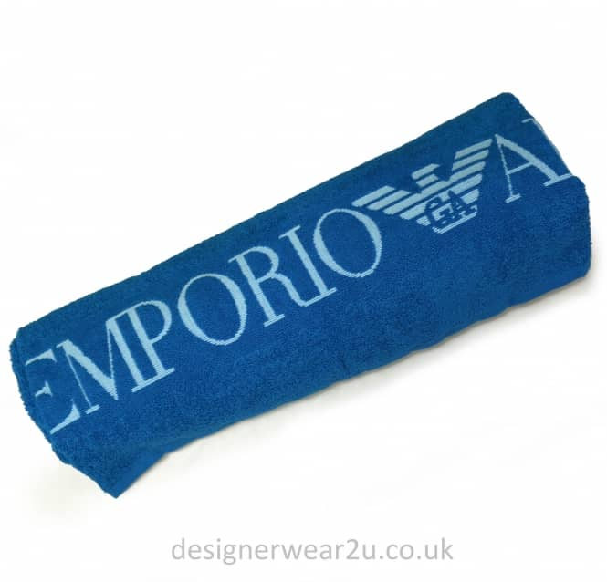 EA7 Emporio Armani EA7 Beach Towel in Blue