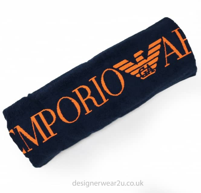 EA7 Emporio Armani EA7 Beach Towel in Navy