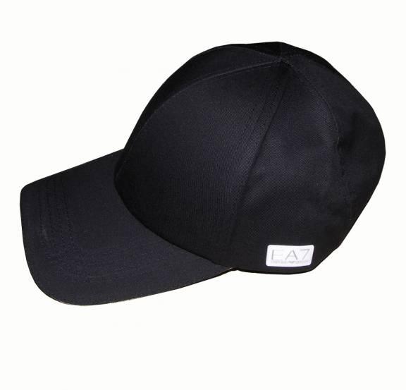 EA7 Emporio Armani EA7 Black Baseball Cap - Hats from DesignerWear2U UK cc3697f5b5b