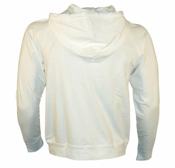 ea7 white hoodie