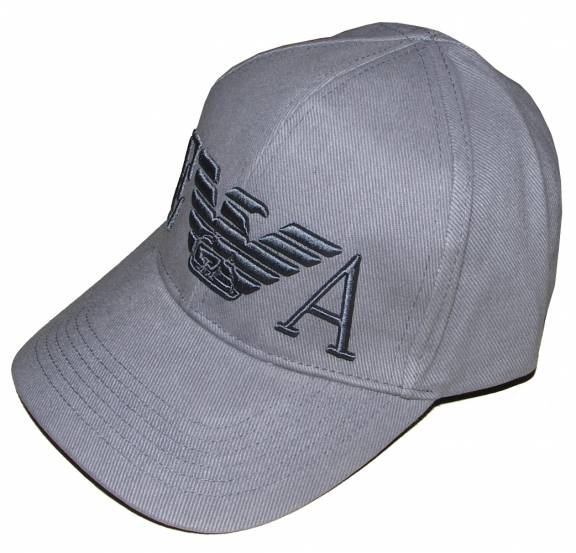 EA7 Emporio Armani Grey cap with large 3D Logo - Hats from ... 452f44956c7