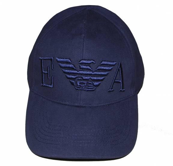 e435e945 EA7 Emporio Armani Navy cap with large 3D Logo - Hats from ...