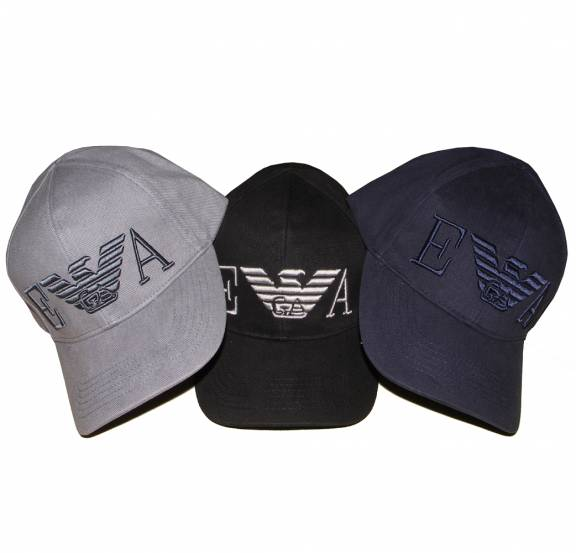 EA7 Emporio Armani Navy cap with large 3D Logo - Hats from ... b8c00513b84