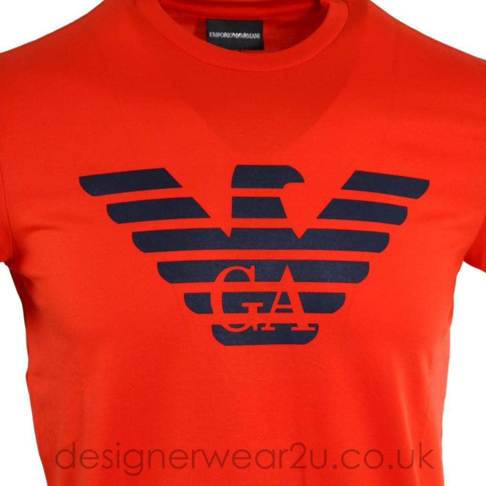 orange armani t shirt