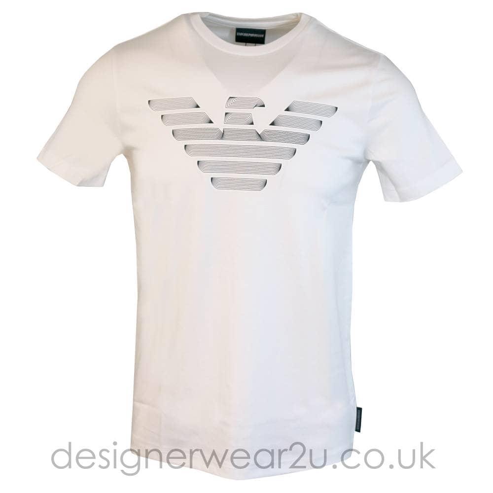 100% de qualité supérieure grandes variétés style limité Emporio Armani Emporio Armani Logo Print T-Shirt in White