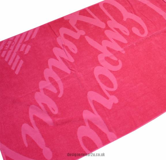 Armani Towels Online: Armani Jeans Ladies Emporio Armani Pink Ladies Beach Towel