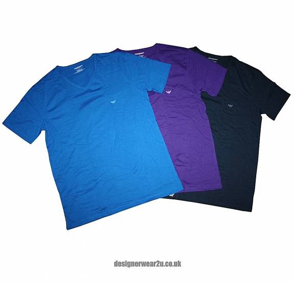 great deals 2017 100% quality best place Emporio Armani Emporio Armani Value 3 Pack V-Neck Slim Fitting T-Shirts