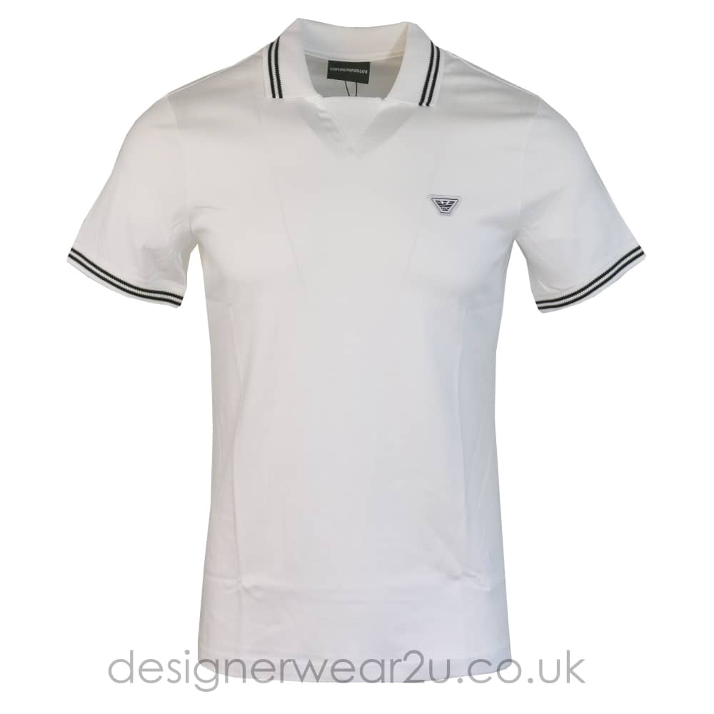 en venta dfc02 aa7b9 Emporio Armani Emporio Armani White Polo Shirt with Fixed Neck