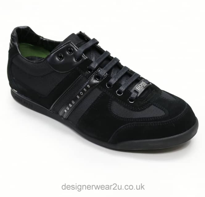 Hugo Boss Hugo Boss Black Fabric & Suede Mix Akeen Trainers