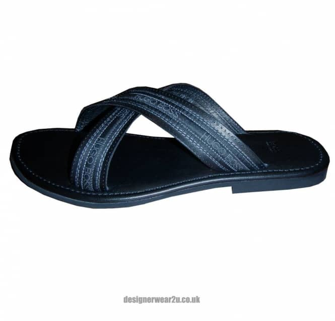 e5f455ca4fb Hugo Boss Black Leather Buenos Sandals - Footwear from DesignerWear2U UK