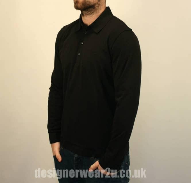 a4dc1fcda Hugo Boss Black Paderna 30 Regular Fit Long Sleeved Polo Shirt ...