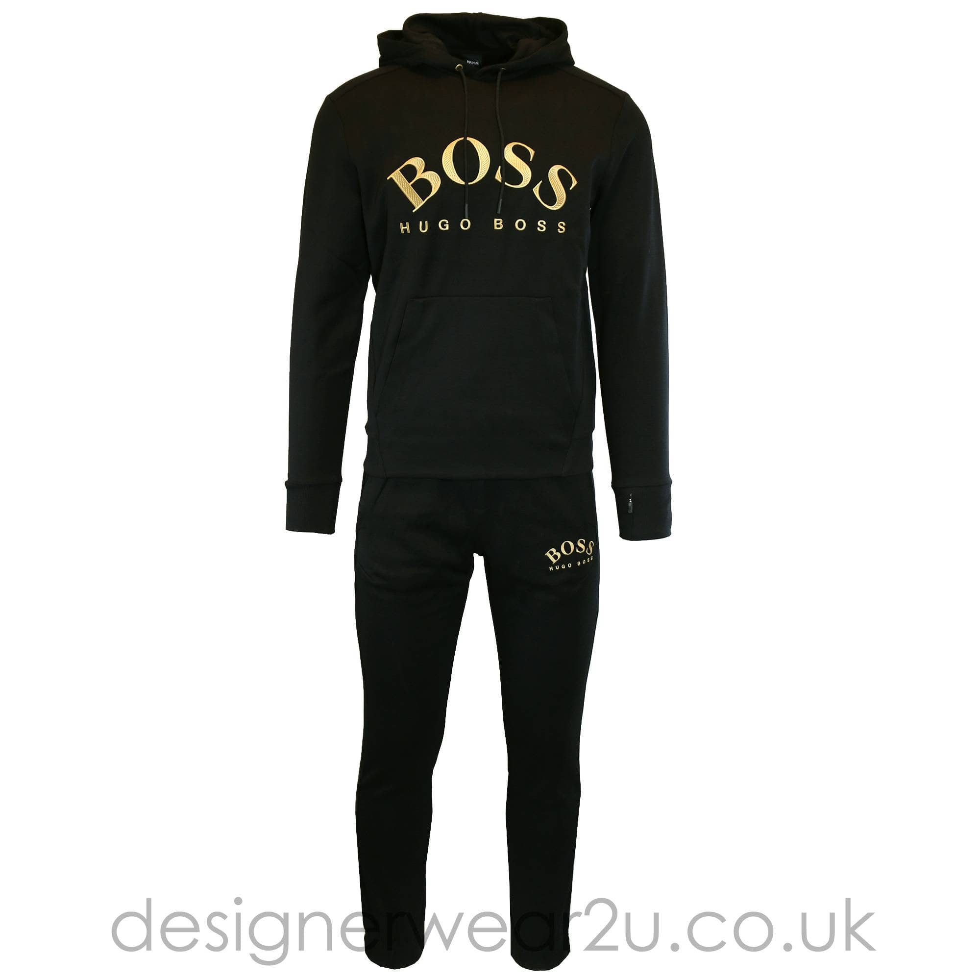 black and gold hugo boss shorts