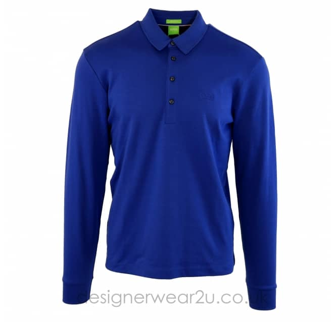 Hugo Boss Hugo Boss Blue Paderna Long Sleeved Polo