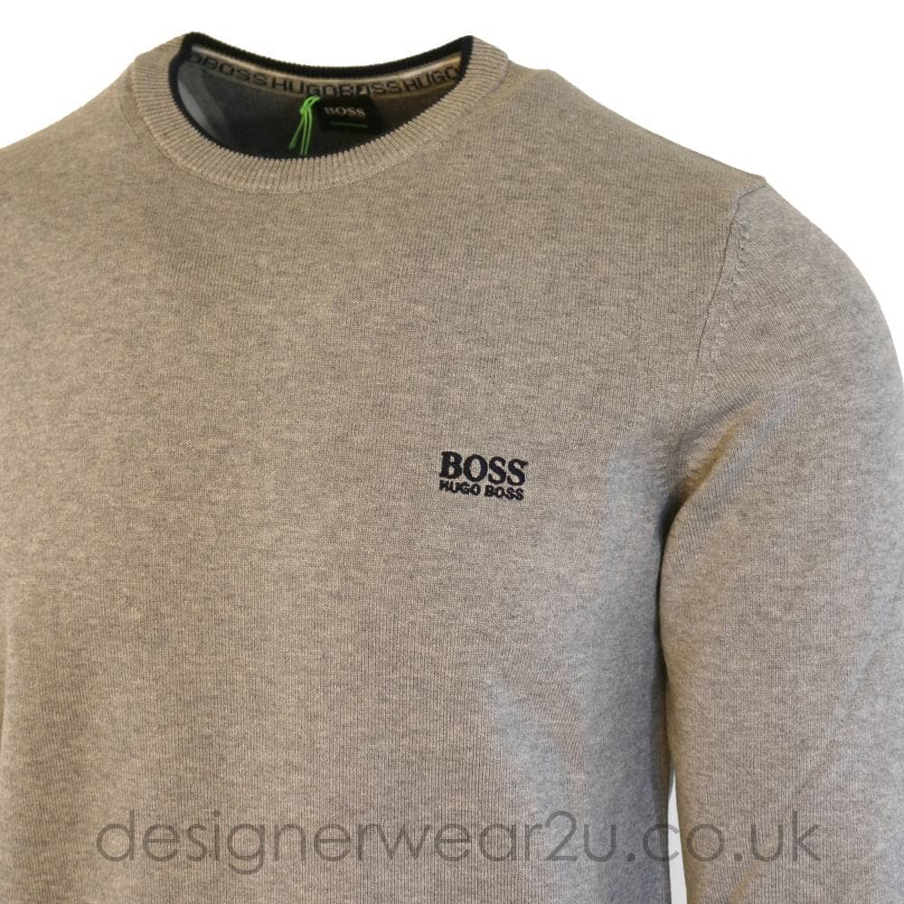 981b38179 Hugo Boss Classic Grey Sweater With Trim - Sweatshirts from ...