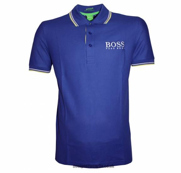 Hugo Boss Green Label Blue Paddy Pro Polo Shirt Polo
