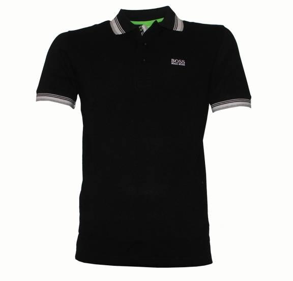 hugo boss green label paddy black polo shirt polo shirts. Black Bedroom Furniture Sets. Home Design Ideas