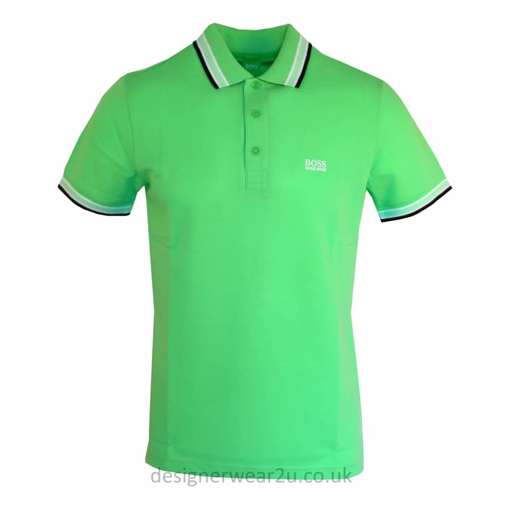 Hugo Boss Green Paddy Polo Shirt - Holiday Shop from DesignerWear2U UK e679dd213