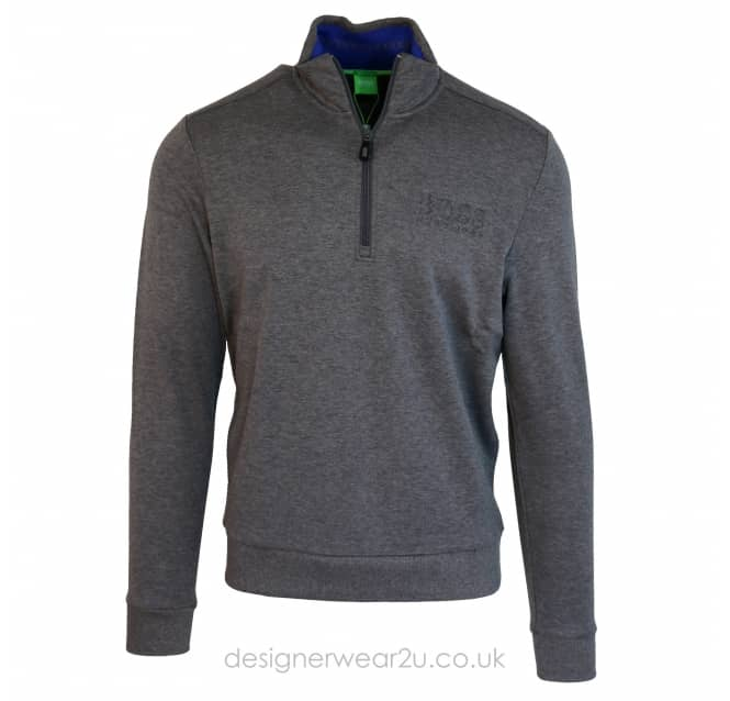 Hugo Boss Hugo Boss Half Zip Sweatshirt in Grey
