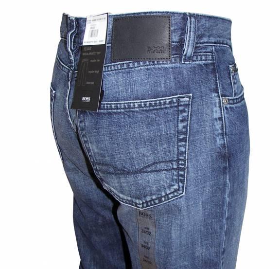 hugo boss herren jeans hose texas schwarz nadelstreifen w34 l30. Black Bedroom Furniture Sets. Home Design Ideas