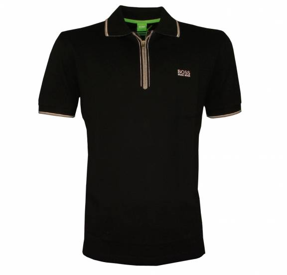baccc3d3 Hugo Boss Green Label Black Philson Polo Shirt - Polo Shirts from ...