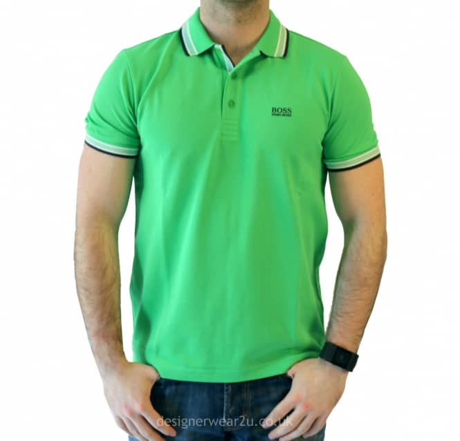 Hugo boss green paddy short sleeved polo shirt holiday for Hugo boss green polo shirt sale