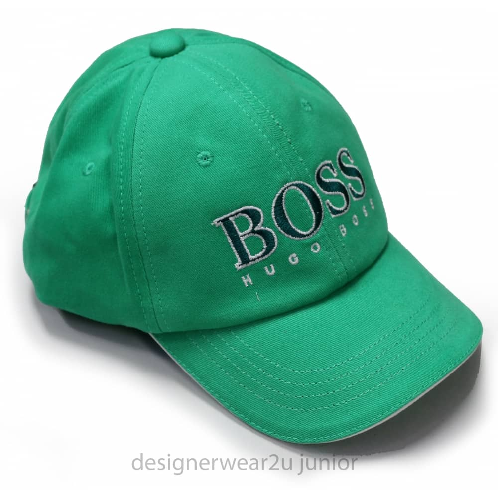 Hugo Boss Junior Hugo Boss Green Cap With Embroidered Logo - Holiday ... 68d25639efc