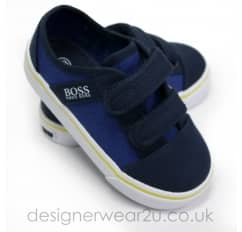 Hugo Boss Infant Trainers in Navy with Velcro Straps