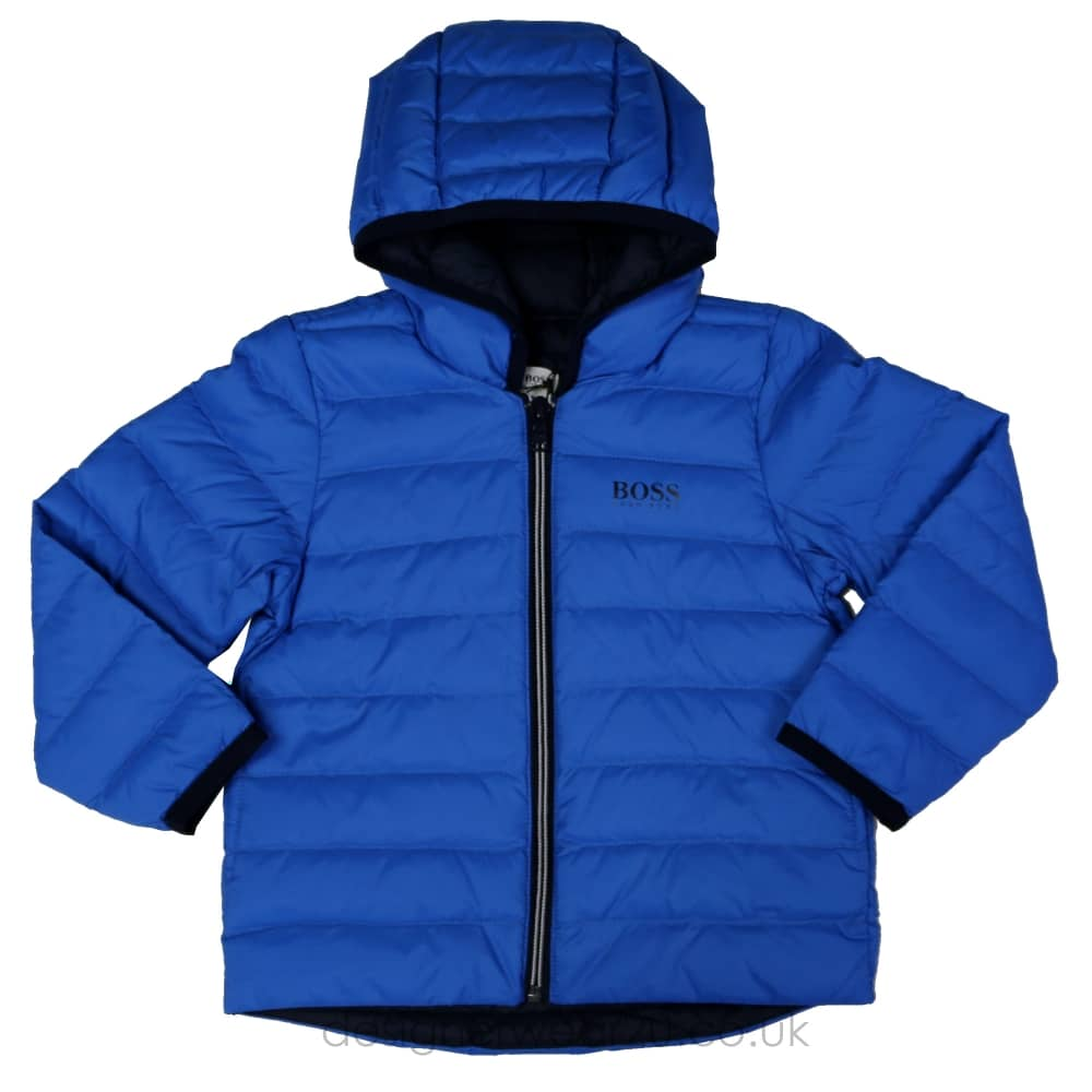 3accd444516d5 Hugo Boss Junior Hugo Boss Kids Blue Padded Jacket - Kids Collection ...