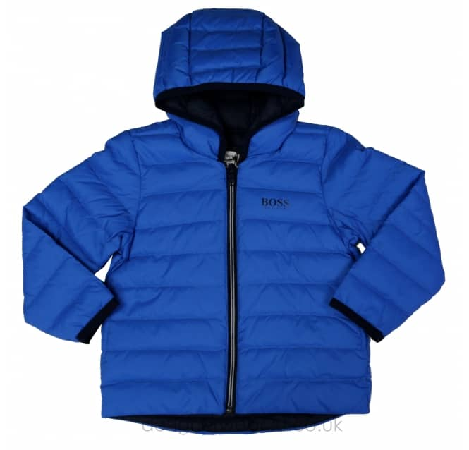 Hugo Boss Junior Hugo Boss Kids Blue Padded Jacket