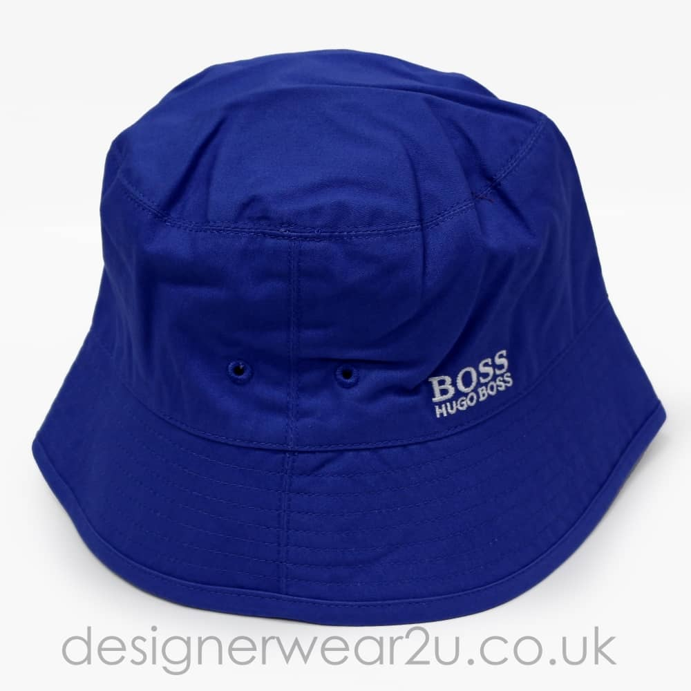 Hugo Boss Junior Hugo Boss Kids Blue Reversible Bucket Hat - Kids ... 6cd4b6b6597e