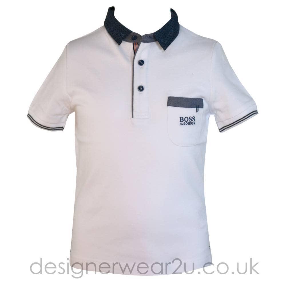 211e6a656 Hugo Boss Junior Hugo Boss Kids Contrast Collar & Pocket Polo in ...