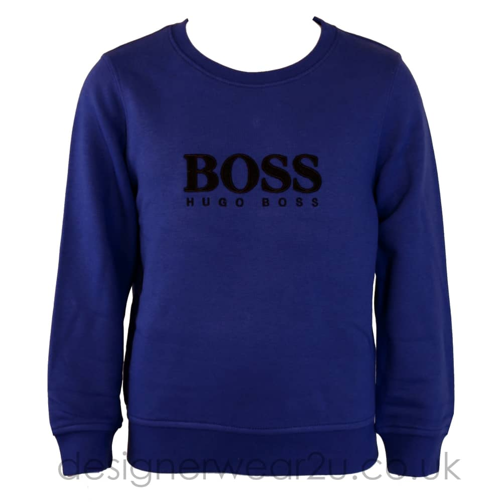 1c9472c5ddd Hugo Boss Junior Hugo Boss Kids Ink Sweater with Boss Logo - Kids ...