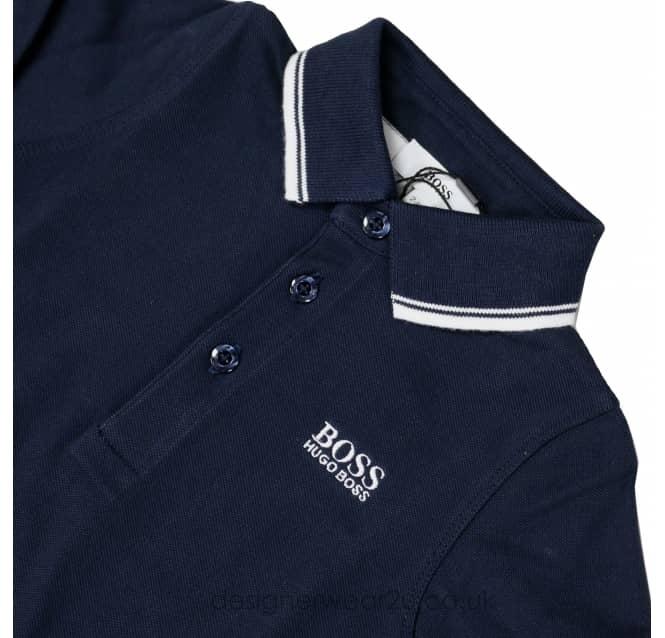 922e92e11 Hugo Boss Junior Hugo Boss Kids Long Sleeve Polo Shirt in Navy ...