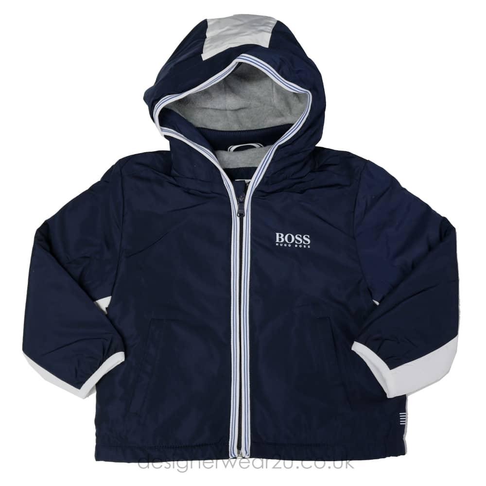 8a854d1254a7c Hugo Boss Junior Hugo Boss Kids Navy Primaloft Jacket - Kids ...
