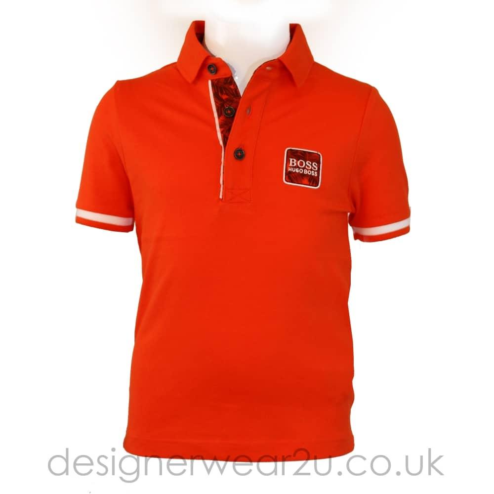 96257f31 Hugo Boss Junior Hugo Boss Kids Slim Fit Palm Print Logo Polo in ...