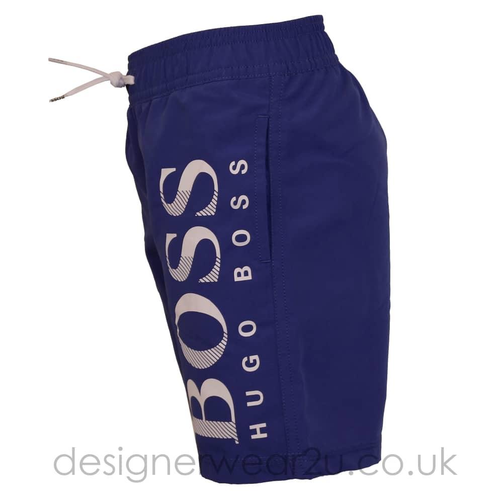 a84350e83f Hugo Boss Junior Hugo Boss Kids Swim Shorts with Large Logo in Blue ...