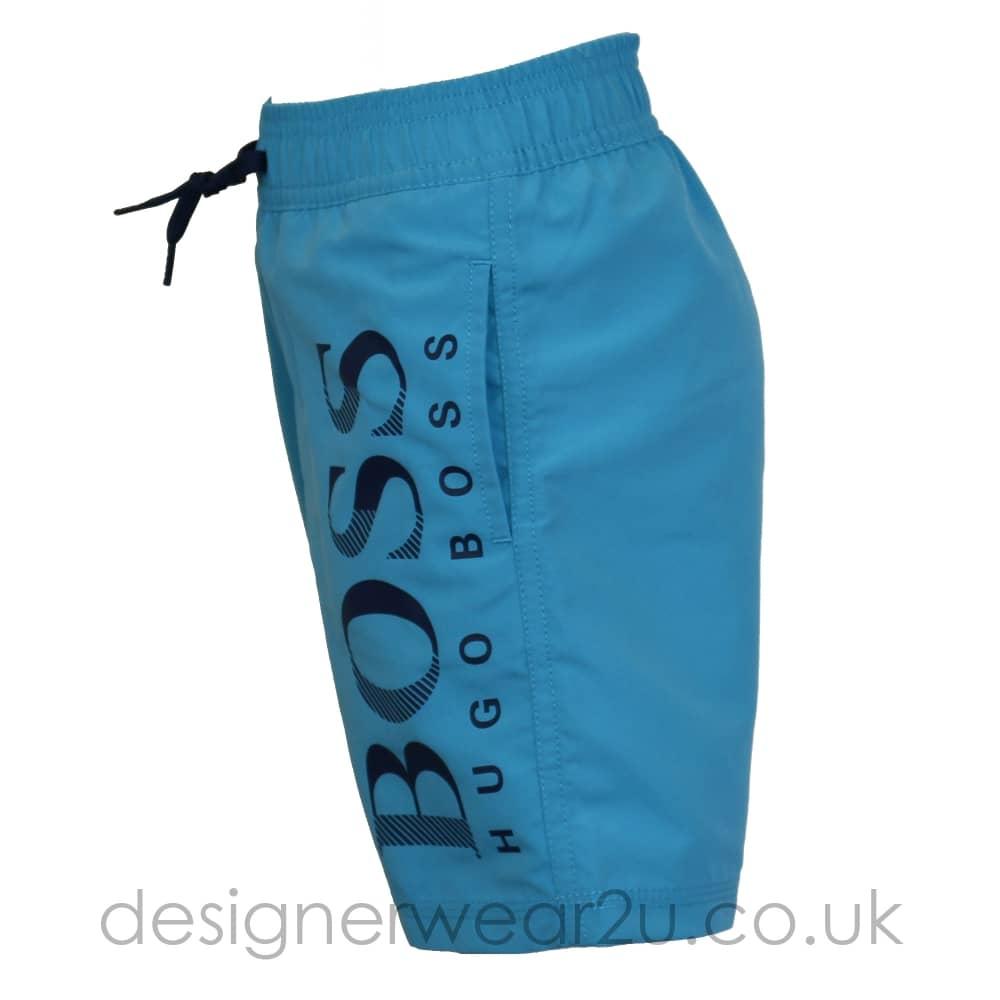 5ebc05e5c2 Hugo Boss Junior Hugo Boss Kids Swim Shorts with Large Logo in Sky ...