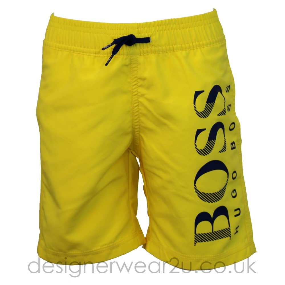 32c57f74 Hugo Boss Junior Hugo Boss Kids Swim Shorts with Large Logo in ...