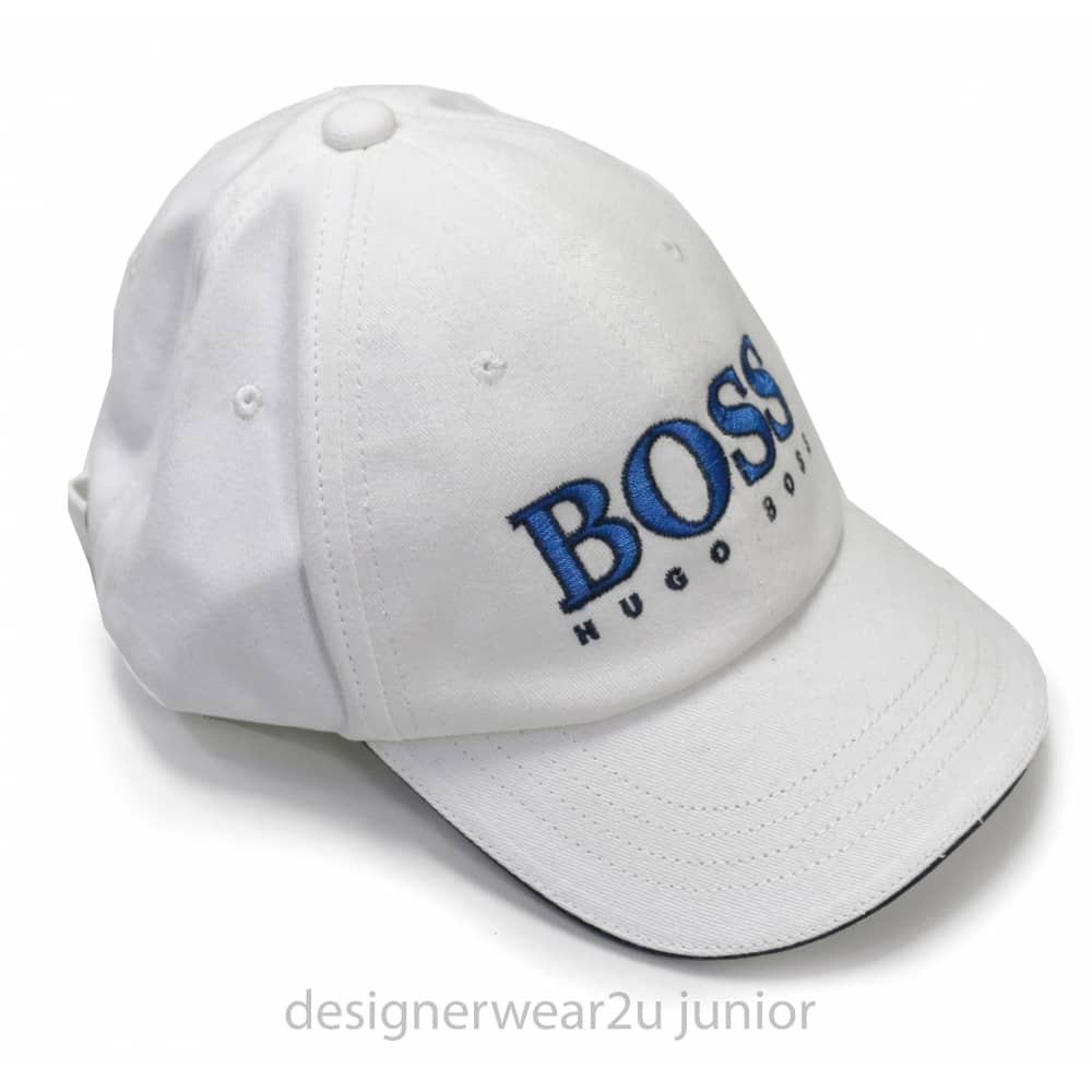 Hugo Boss Junior Hugo Boss Kids White Cap With Embroidered Logo ... 178f84a403e