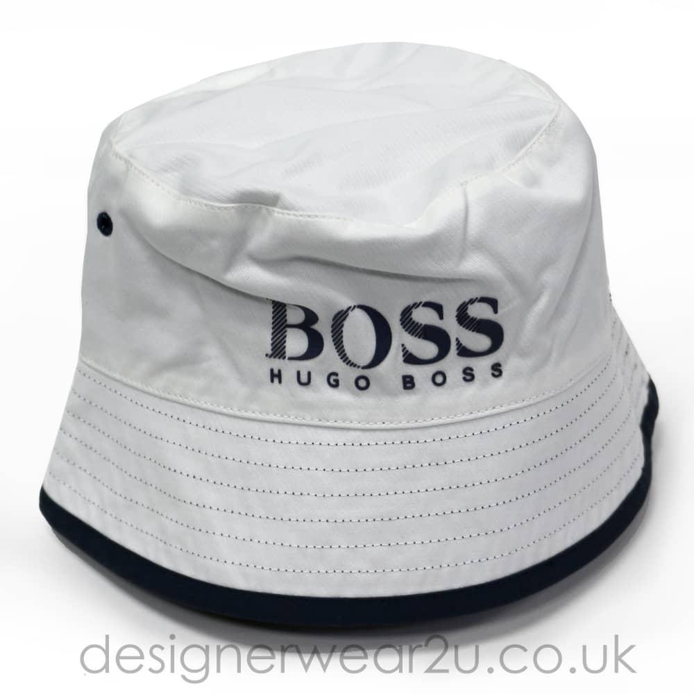 Hugo Boss Junior Hugo Boss Kids White Reversible Bucket Hat