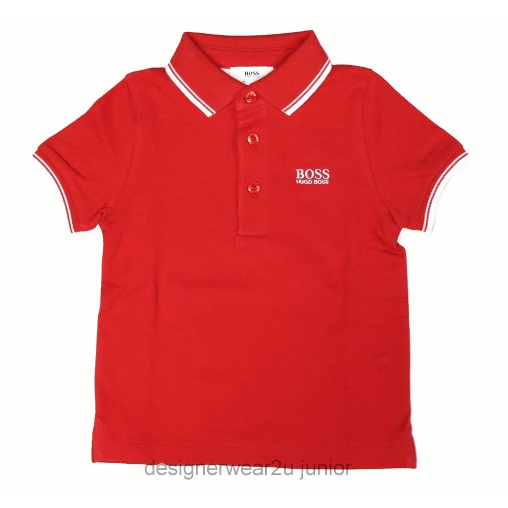 03c69c1ee Hugo Boss Junior Kids Hugo Boss Classic Polo in Red - Kids ...