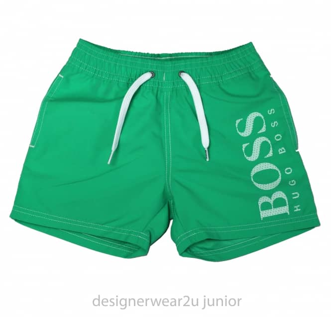 Hugo Boss Junior Kids Hugo Boss Swim Shorts in Green