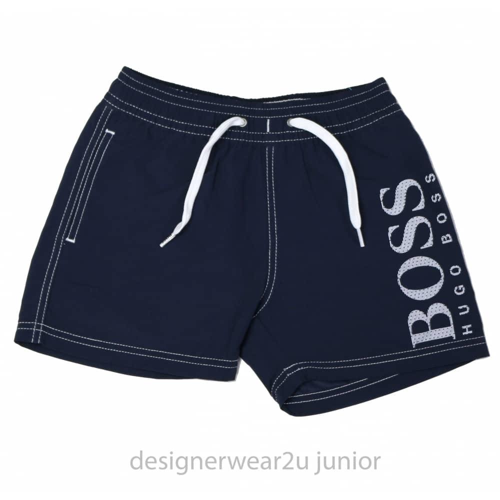 553fb65ee Hugo Boss Junior Kids Hugo Boss Swim Shorts in Navy - Kids ...