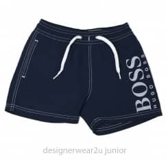 Kids Hugo Boss Swim Shorts in Navy