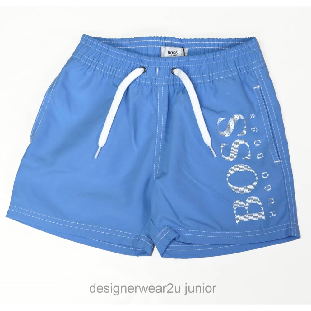 e1d9e821 Hugo Boss Junior Kids Hugo Boss Swim Shorts in Sky Blue - Kids ...