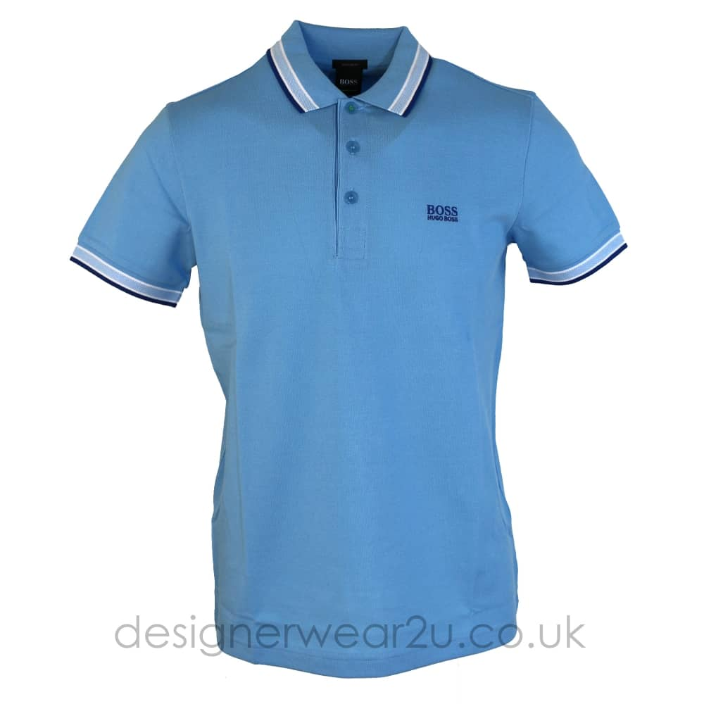 best service 5625d 49302 Hugo Boss Hugo Boss Light Blue Paddy Polo Shirt